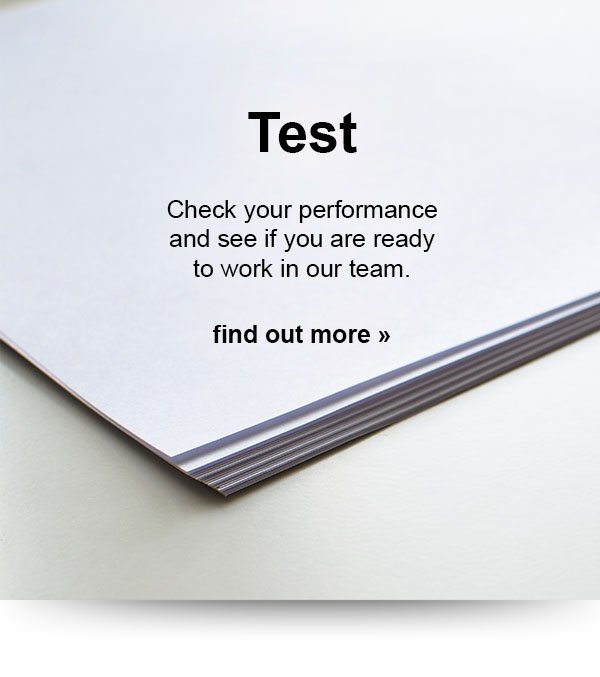 Take our test to evaluate your performance and see if you are ready to use your special talents/skills in projects.